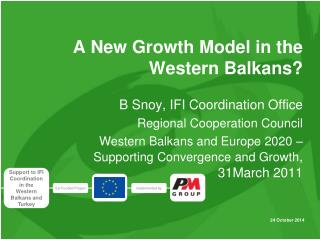 A New  Growth  Model in the Western Balkans?
