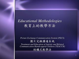Educational Methodologies 教育上的教學方法