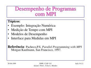 Desempenho de Programas com MPI