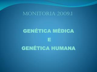 Monitoria 2009.1