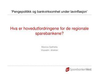 Hva er hovedutfordringene for de regionale sparebankene?