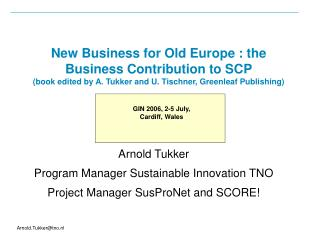 New Business for Old Europe : the Business Contribution to SCP