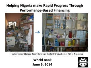 Helping Nigeria make Rapid Progress Through Performance-Based Financing