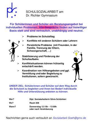 SCHULSOZIALARBEIT am Dr. Richter Gymnasium