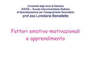Fattori emotivo-motivazionali e apprendimento