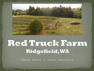 Red Truck Farm Ridgefield, WA
