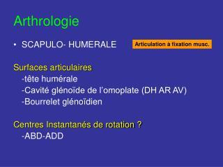 Arthrologie