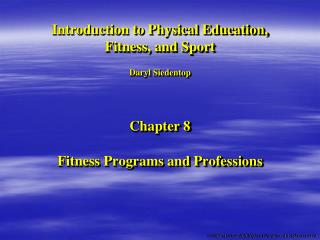 Fitness Programs and Professions