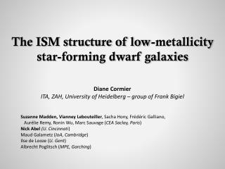 The ISM structure of low- metallicity   star-forming dwarf galaxies