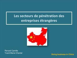 Les secteurs de pénétration des entreprises étrangères
