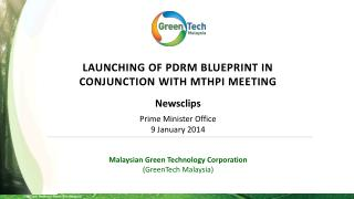 Malaysian Green Technology Corporation ( GreenTech  Malaysia)