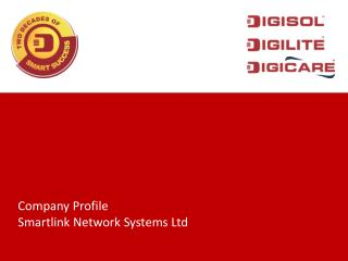 Company Profile Smartlink Network Systems Ltd