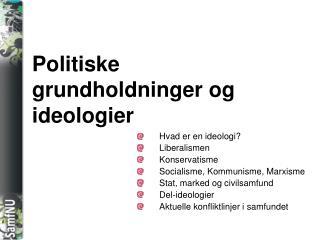 Politiske grundholdninger og ideologier