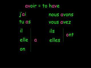 av oir = to h av e