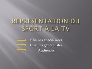 Représentation du sport à la tv