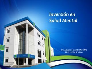 Inversión en Salud Mental