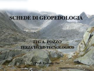 SCHEDE DI GEOPEDOLOGIA