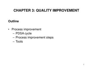 CHAPTER 3: QUALITY IMPROVEMENT