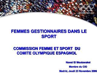 FEMMES GESTIONNAIRES DANS LE SPORT