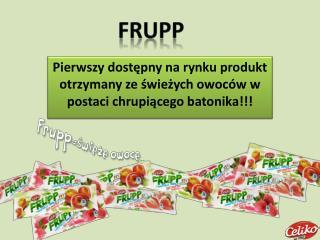 Pierwszy dostępny na rynku produkt otrzymany ze świeżych owoców w postaci chrupiącego batonika!!!
