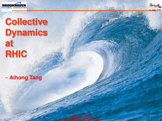 Collective  Dynamics  at  RHIC  Aihong Tang