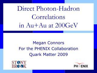 Direct Photon-Hadron Correlations in Au+Au at 200GeV