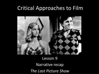 Critical Approaches to Film