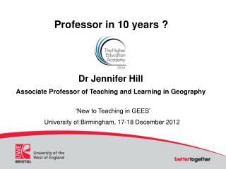 Professor in 10 years ?