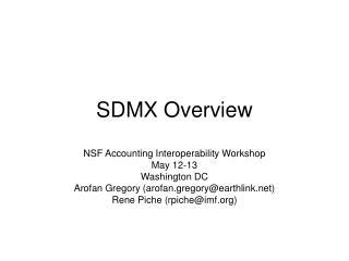 SDMX Overview
