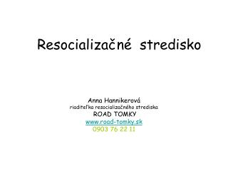 Resocializačné stredisko