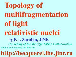 Topology of multifragmentation of light relativistic nuclei by P. I. Zarubin, JINR