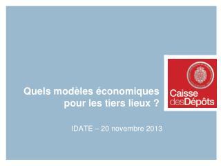Quels modèles économiques pour les tiers lieux ?