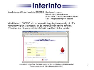 InterInfo via COSMIC