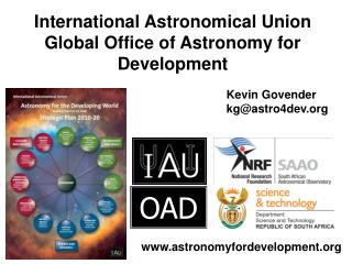 International Astronomical Union Global Office of Astronomy for Development