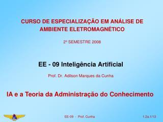CURSO DE ESPECIALIZAÇÃO EM ANÁLISE DE AMBIENTE ELETROMAGNÉTICO 2º SEMESTRE 2008
