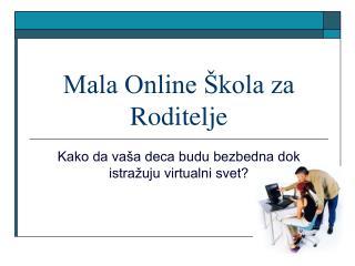 Mala Online Škola za Roditelje