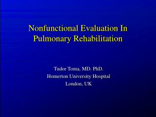 Nonfunctional Evaluation In Pulmonary Rehabilitation