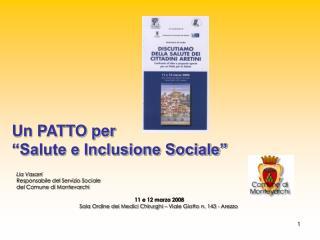"""Un PATTO per """"Salute e Inclusione Sociale"""""""