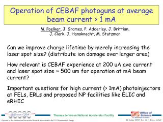 Operation of CEBAF photoguns at average beam current > 1 mA