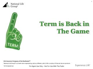 Term is Back in The Game