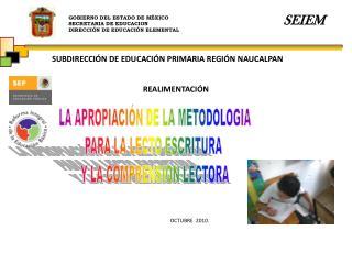 GOBIERNO DEL ESTADO DE MÉXICO SECRETARIA DE EDUCACION DIRECCIÓN DE EDUCACIÓN ELEMENTAL