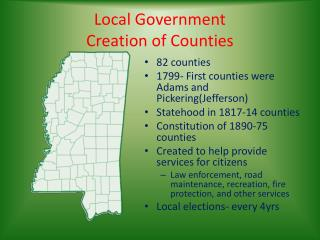 Local Government Creation of Counties