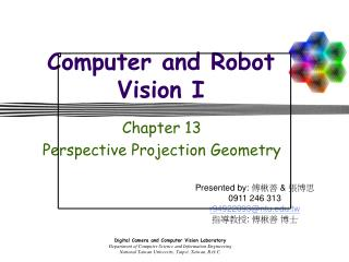 Computer and Robot Vision I