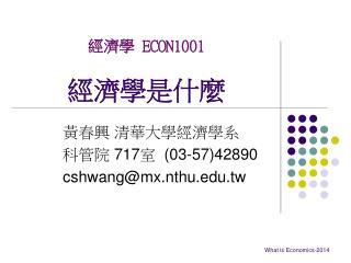 經濟學 ECON1001 經濟學是什麼