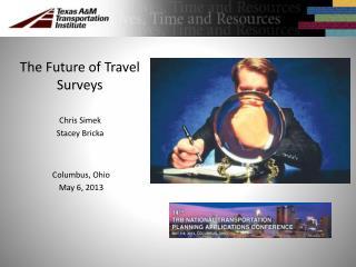 The Future of Travel Surveys