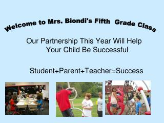 Our Partnership This Year Will Help Your Child Be Successful 	Student+Parent+Teacher=Success