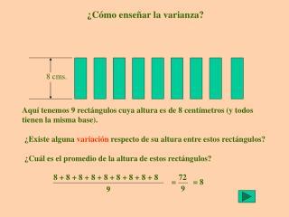 ¿Cómo enseñar la varianza?