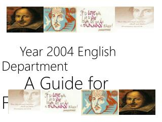 Year 2004 English Department   A Guide for Freshmen