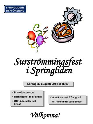 Surströmmingsfest i Springliden