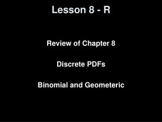 Lesson 8 - R